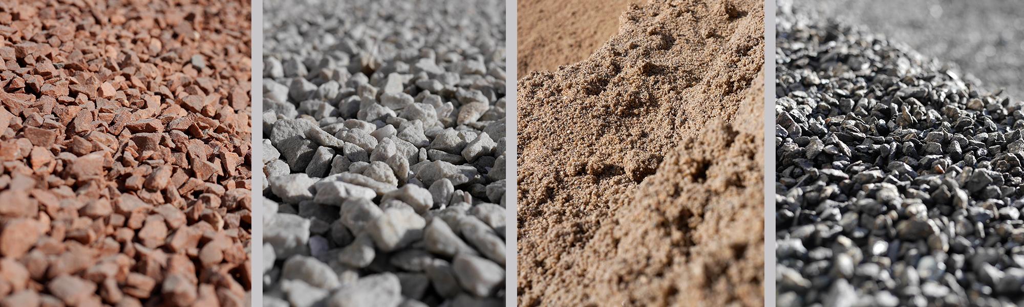 Baustoffe Kies Splitt Sand